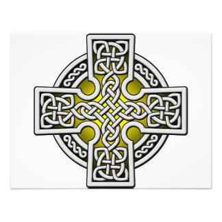 Celtic 4 way silver and gold personalized announcements