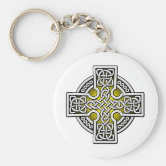 Celtic 4 way silver and gold keychain