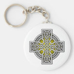 Celtic 4 way silver and gold keychains