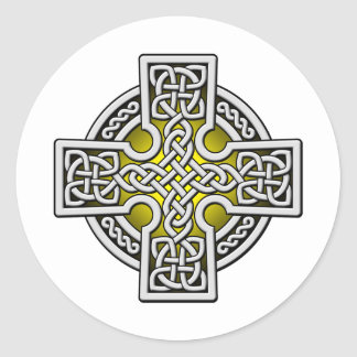 Celtic 4 way silver and gold sticker