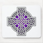 Celtic 4 way silver and purple mousepads
