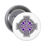 Celtic 4 way silver and purple pins