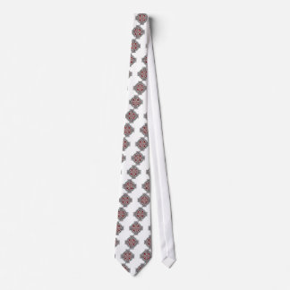 Celtic 4 way silver and red tie