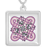 Celtic 8 silver plated necklace
