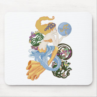 "Celtic ""A""for Aquarius Mermaid Mouse Pad"
