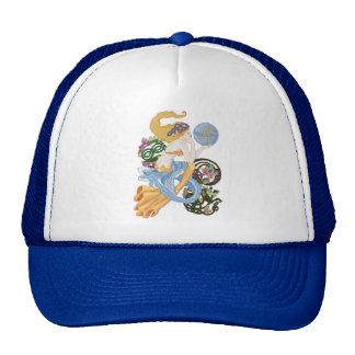 """Celtic """"A""""for Aquarius Mermaid Trucker Hat"""