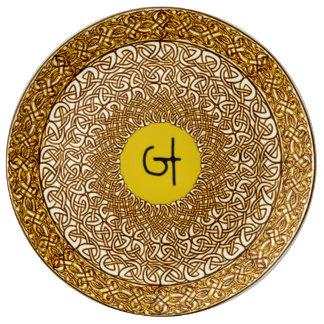 Celtic Air Healing Mandala Porcelain Plate