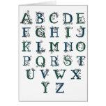 Celtic Alphabet card
