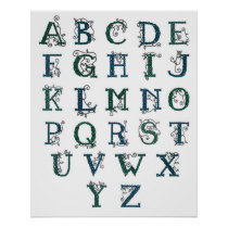 Celtic Alphabet print