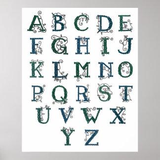 Celtic Alphabet print