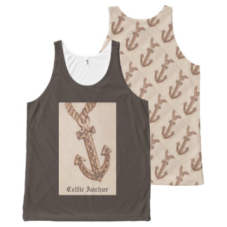 Celtic Anchor Nautical Choose Background Color All-Over-Print Tank Top
