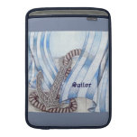 Celtic Anchor Nautical Choose Background Color MacBook Sleeve