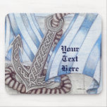 Celtic Anchor Nautical Mouse Pad