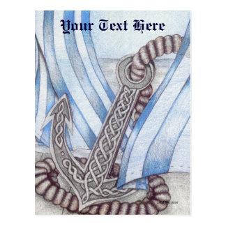 Celtic Anchor Nautical Postcard