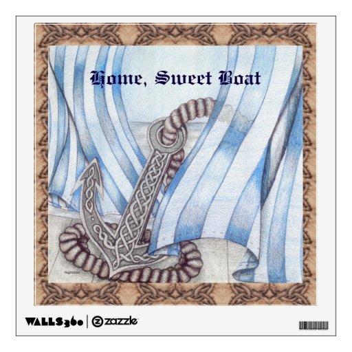 celtic anchor nautical wall sticker zazzle