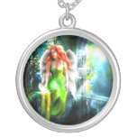 Celtic Angel Protection Pendent Silver Plated Necklace