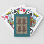 Celtic Art Border Playing Cards (Aqua/Brown)