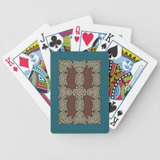 Celtic Art Border Playing Cards (Aqua/Brown)