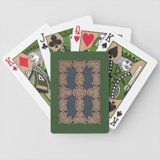 Celtic Art Border Playing Cards (Blue/Green)