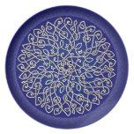 Celtic Art Burst Blue Party Plates