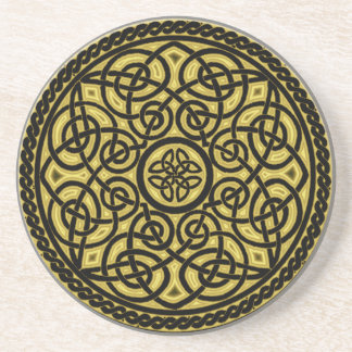 celtic art beverage coaster