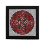 Celtic Art Cross Black and Red Keepsake Boxes