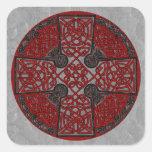 Celtic Art Cross Black and Red Sticker