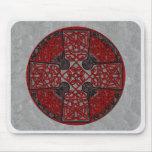Celtic Art Cross Mousepad Black and Red