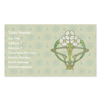 Celtic art deco floral design t2 business cards