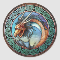 Celtic Art Dragon Stickers