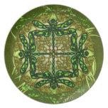 Celtic Art Dragonflies Plate