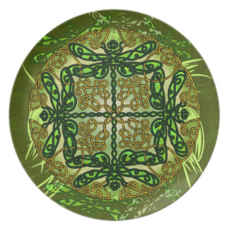 Celtic Art Dragonflies Plate