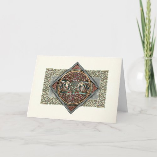 Celtic Art Gryphons Greeting Card