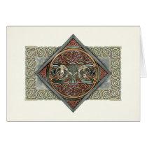 Celtic Art Gryphons Greeting Card