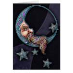 Celtic Art Moon Face Greeting Card