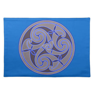 Celtic Art Spiral Design Cloth Placemat