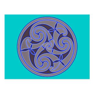 Celtic Art Spiral Design Postcard