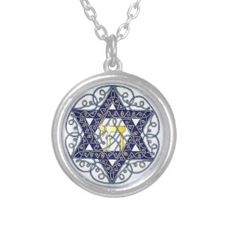 Celtic Art Star of David Silver Plated Necklace