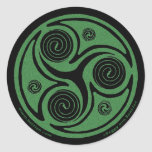 Celtic Art Sticker, Triskel Design #4