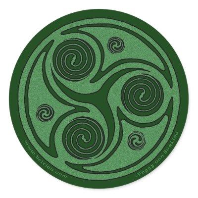 Celtic Art Sticker, Triskel Spiral #2 by Beltain