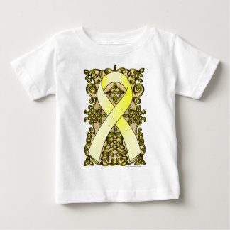 Celtic Art Support Our Troops Awareness Ribbon Baby T-Shirt
