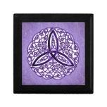 Celtic Art Trinity Knot Lavender Keepsake Boxes