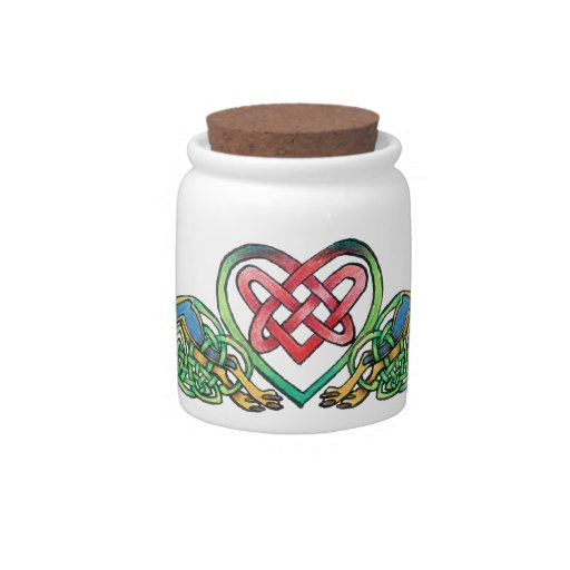 Celtic at Heart Candy Jars