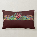 Celtic at Heart (Cream and Chocolate) Throw Pillows