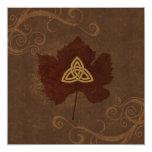 Celtic Autumn 5.25x5.25 Square Paper Invitation Card