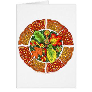 Celtic Autumn Leaves Card