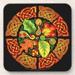 Celtic Autumn Leaves Coaster