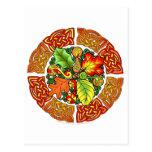 Celtic Autumn Leaves Postcard