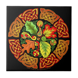 Celtic Autumn Leaves Tile