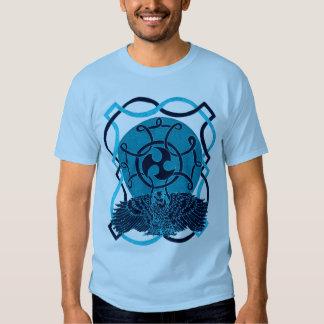 Celtic azul Eagle del dril de algodón Remera